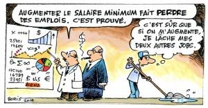 Encore une hausse du salaire minimum, hausse ?